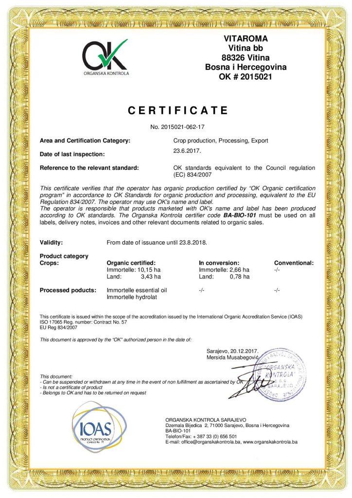 certifikatvitaroma